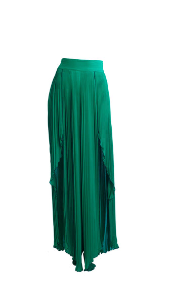 Emersa Green Gaucho Pants by Bohn Jsell | Nineteenth Amendment
