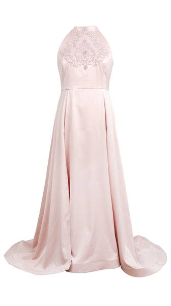 Pink Silk Stretch Essence Gown by Nerecina | Plus Size Bridal and Formal | Nineteenth Amendment