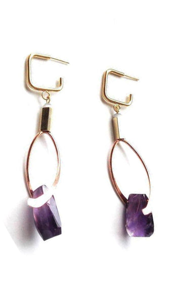 Gala Earrings in Amethyst - Jewelry
