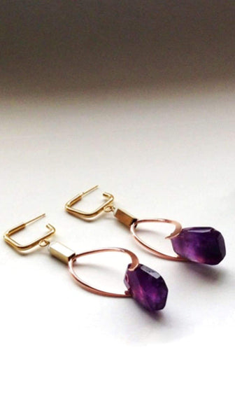 Gala Earrings in Amethyst