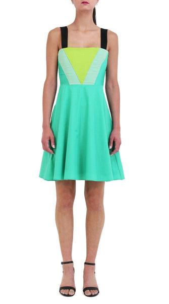 Green Triangle Dress