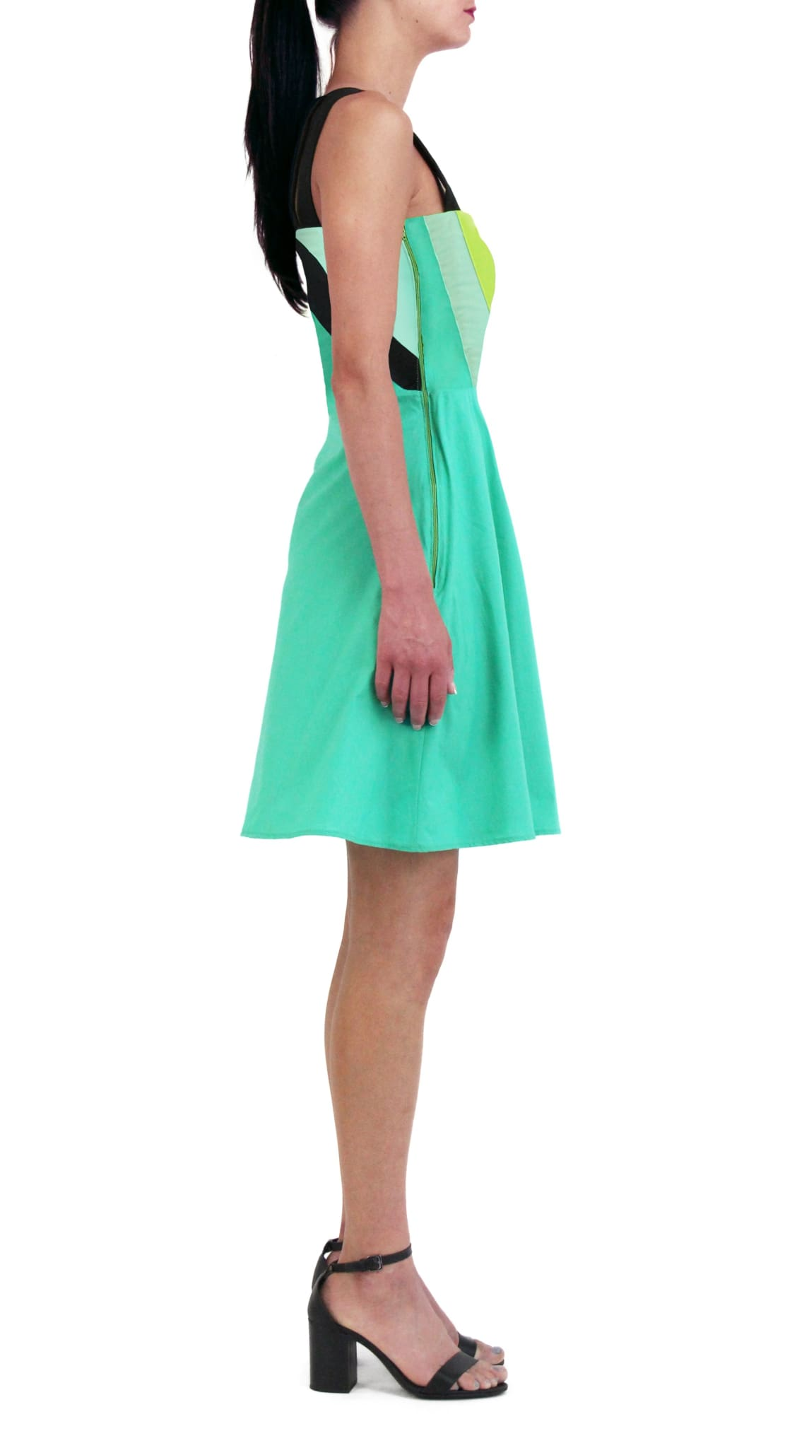 Green Triangle Dress by Meghan Hughes Nineteenth Amendment