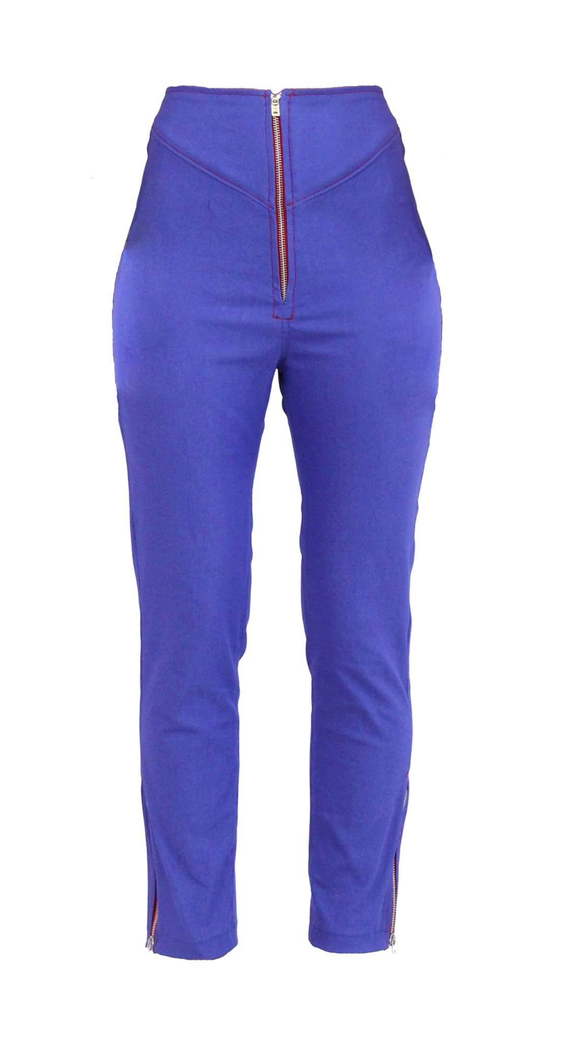 Blue Hi-Waisted Cropped Pants by Meghan Hughes | Nineteenth Amendment