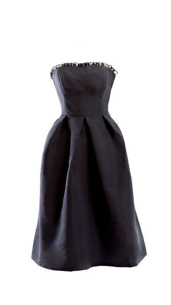 Customizable Black Silk Cocktail Lily Dress in Black by Bespoke Southerly | Nineteenth Amendment
