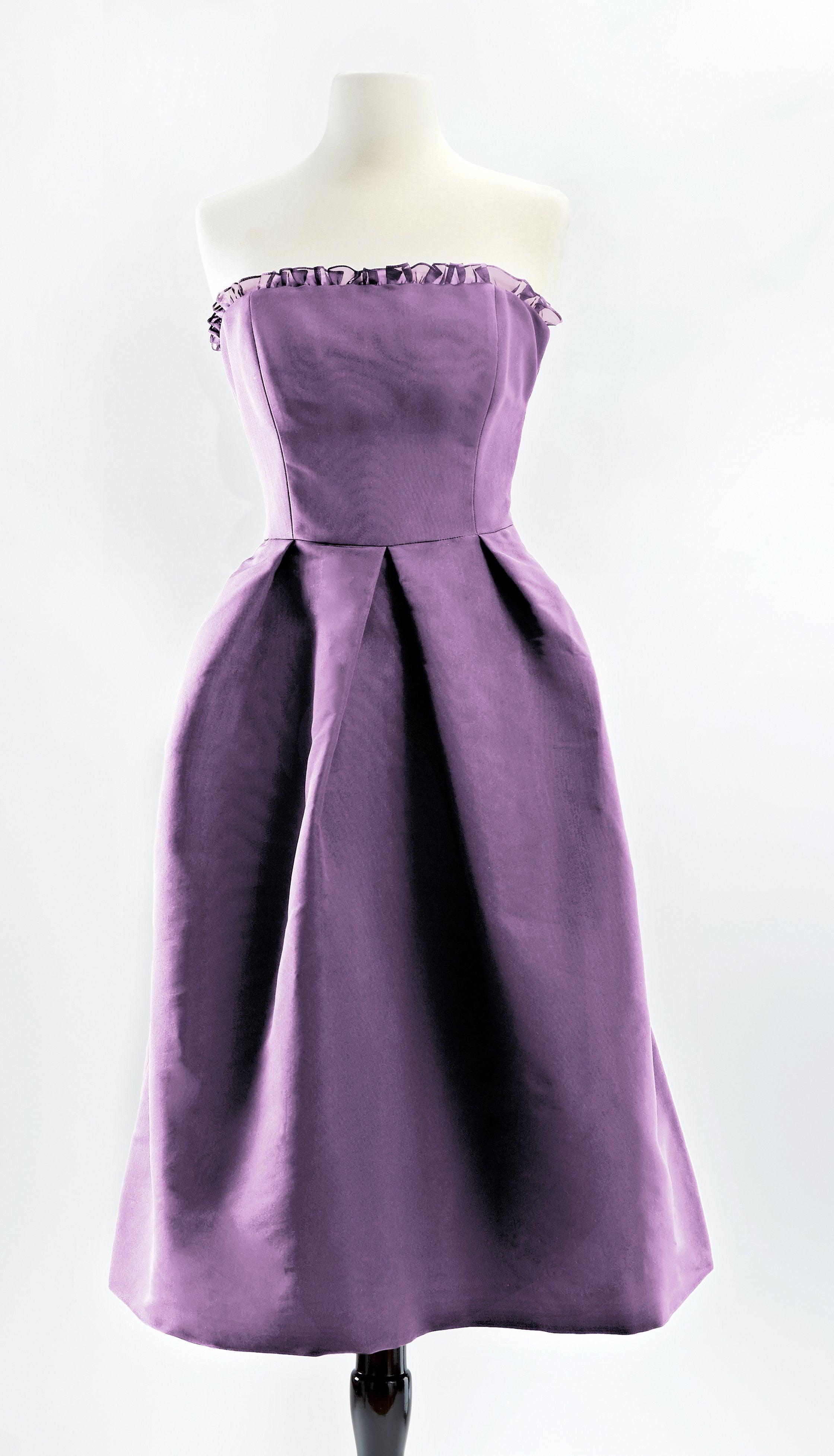 Customizable Purple Silk Cocktail Lily Dress in Purple Lilac by Bespoke Southerly | Nineteenth Amendment