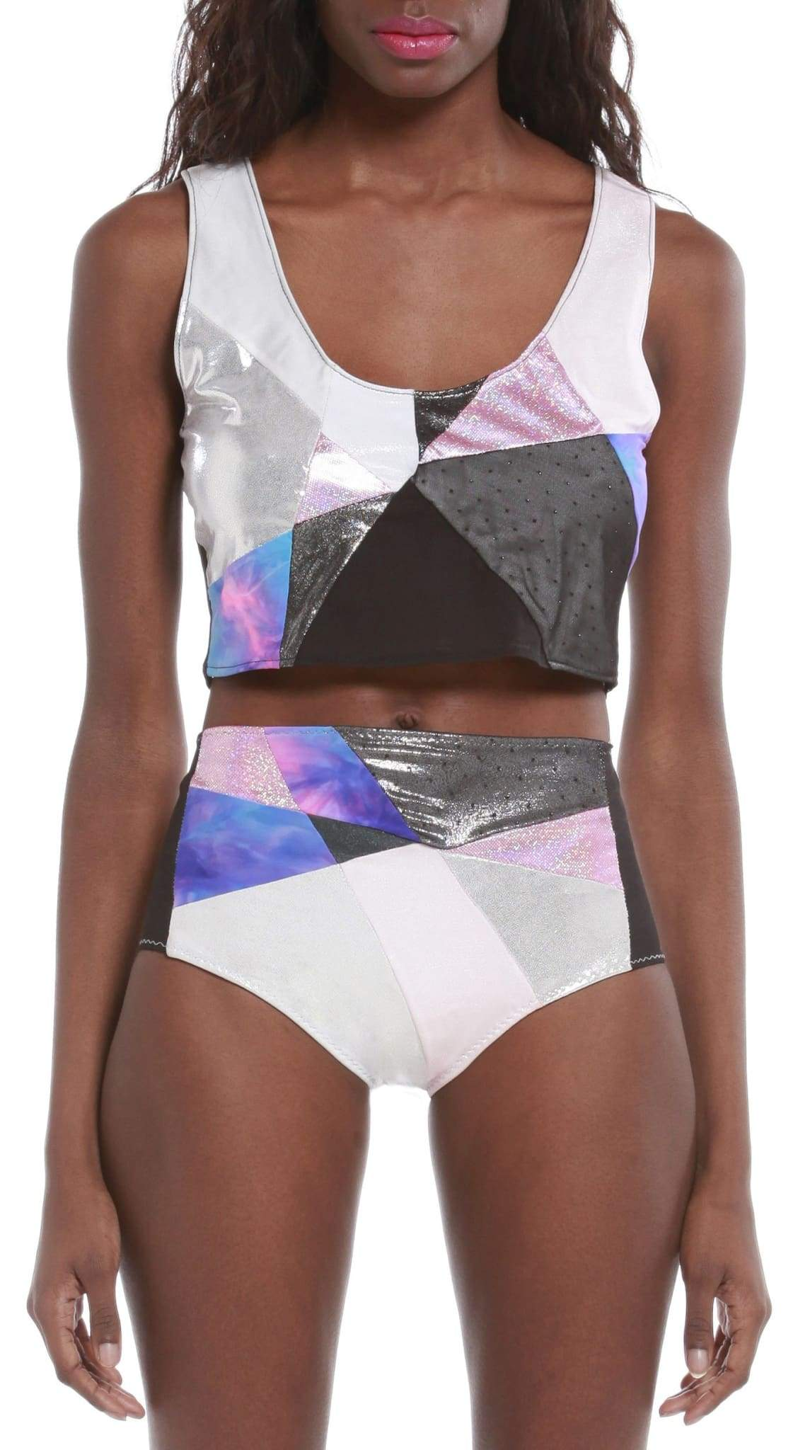 Luxe Neon Holographic Bikini Crop Top by Rosina~Mae | Nineteenth Amendment