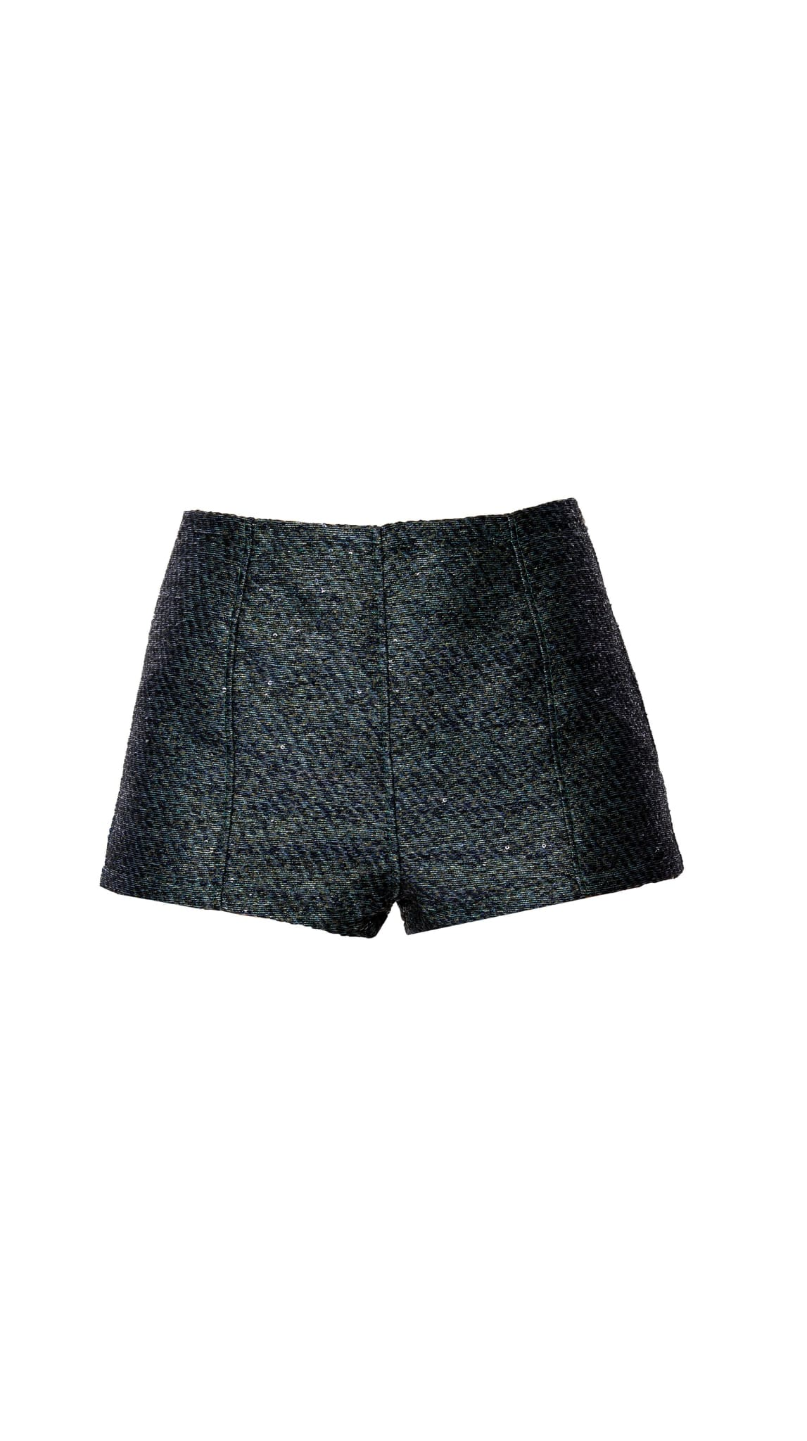 Metallic Green Grey Tap Shorts by Meghan Hughes | Nineteenth Amendment