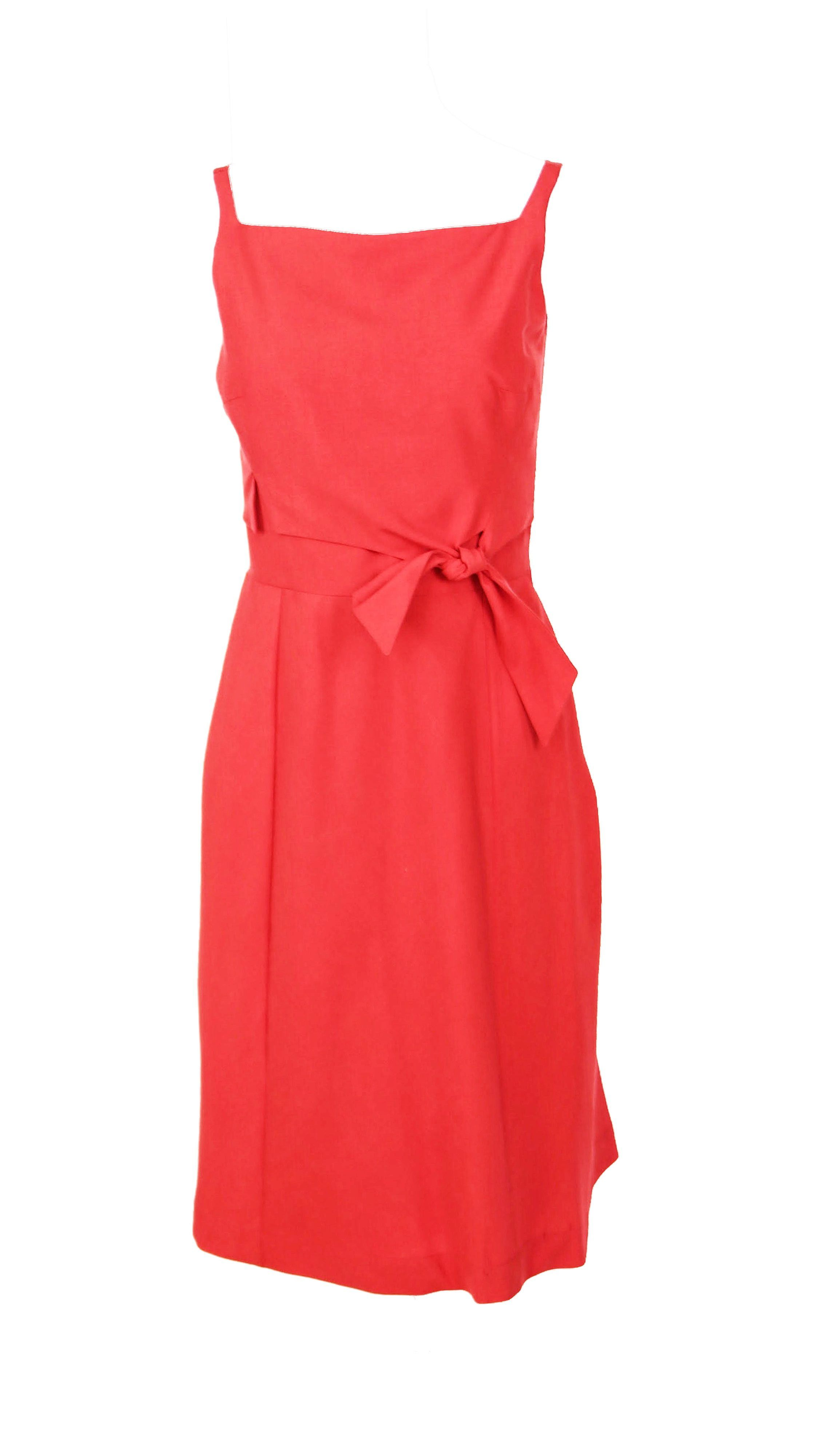 Red strap with tie Michelle Dress by Christina Ward | Nineteenth Amendment