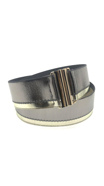 Metallic Metal Waist Belt Variation III (Bow) by Leetal Platt Made in New York | Nineteenth Amendment