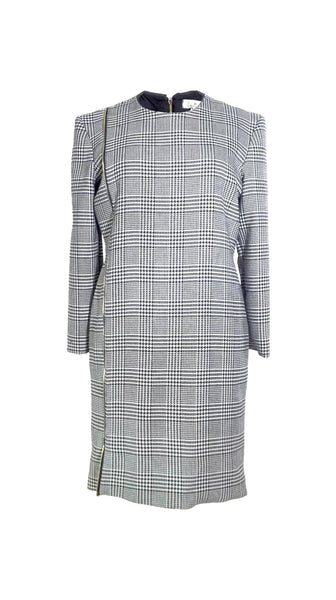 Black and white houndstooth Off Pattern Dress by Chanho Jang | Nineteenth Amendment