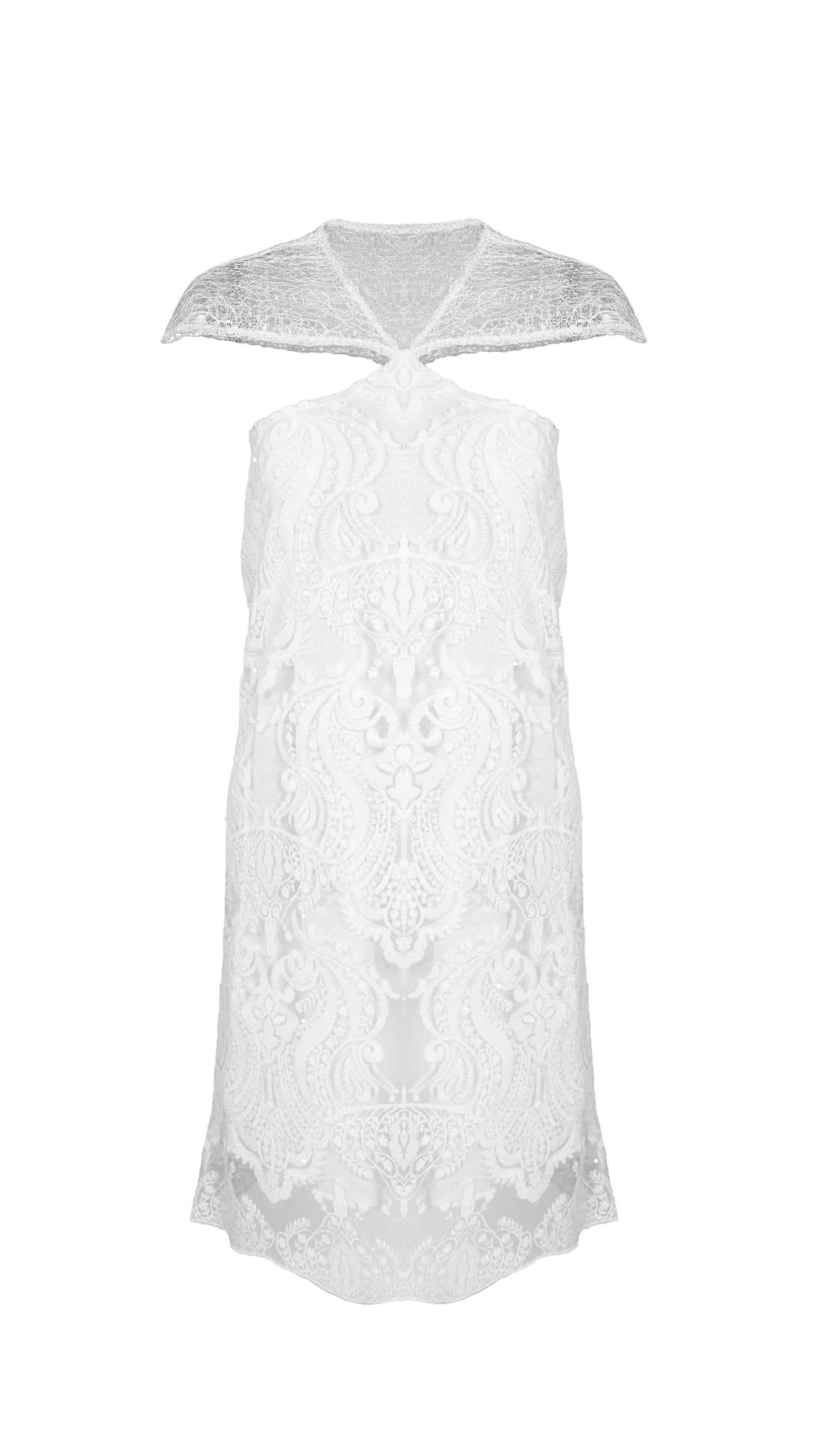Pasiphea White Lace Dress by San Francisco brand SF Couture sustainable fashion made in the USA | Nineteenth Amendment