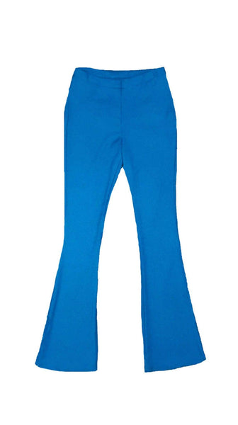Phoebe high waisted Blue Flare Pant flatlay by VARYFORM for Nineteenth Amendment