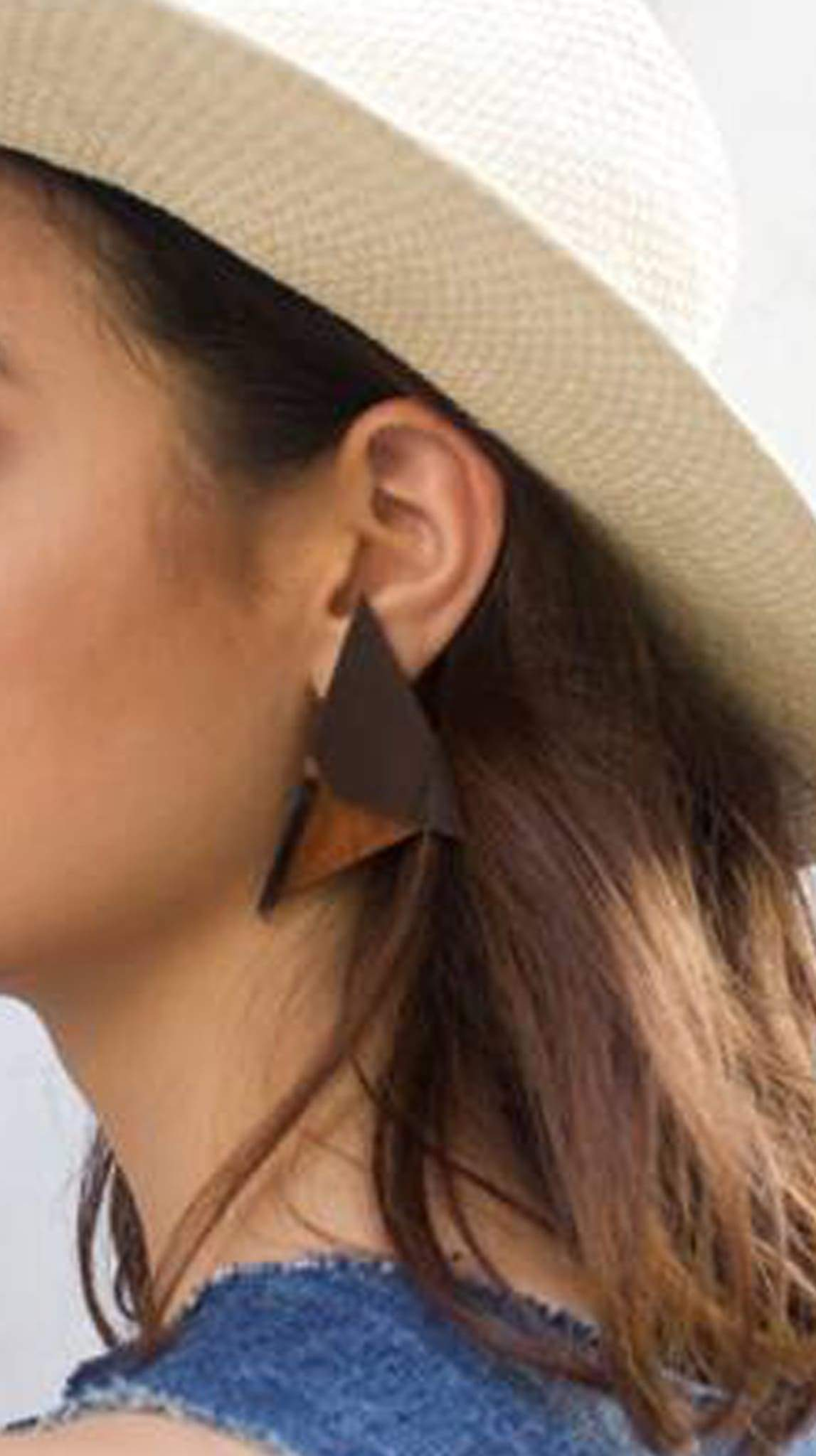 Prisma Wood and Acrylic Ruby Davila-Rendon Earrings by Ruby Dávila-Rendón Made in Puerto Rico | Nineteenth Amendment