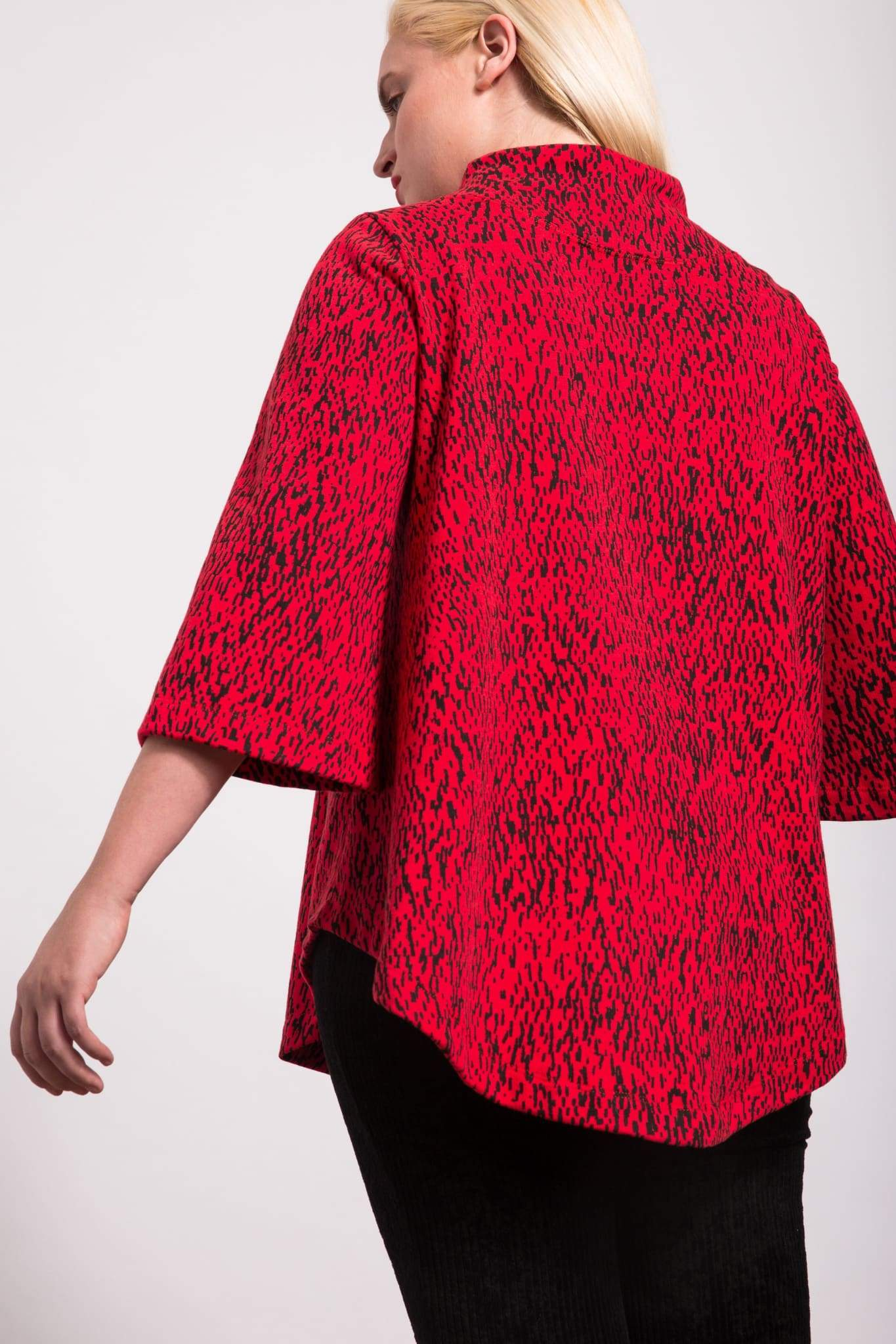 Red printed Swing Sweatshirt by Lobo Mau | Nineteenth Amendment