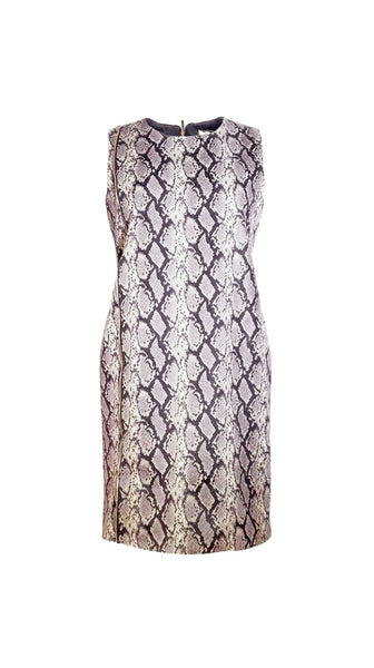 Vegan sleeveless Snake Skin Dress by Chanho Jang | Nineteenth Amendment