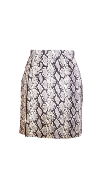 Vegan Snake Skin Zipper Skirt by Chanho Jang | Nineteenth Amendment