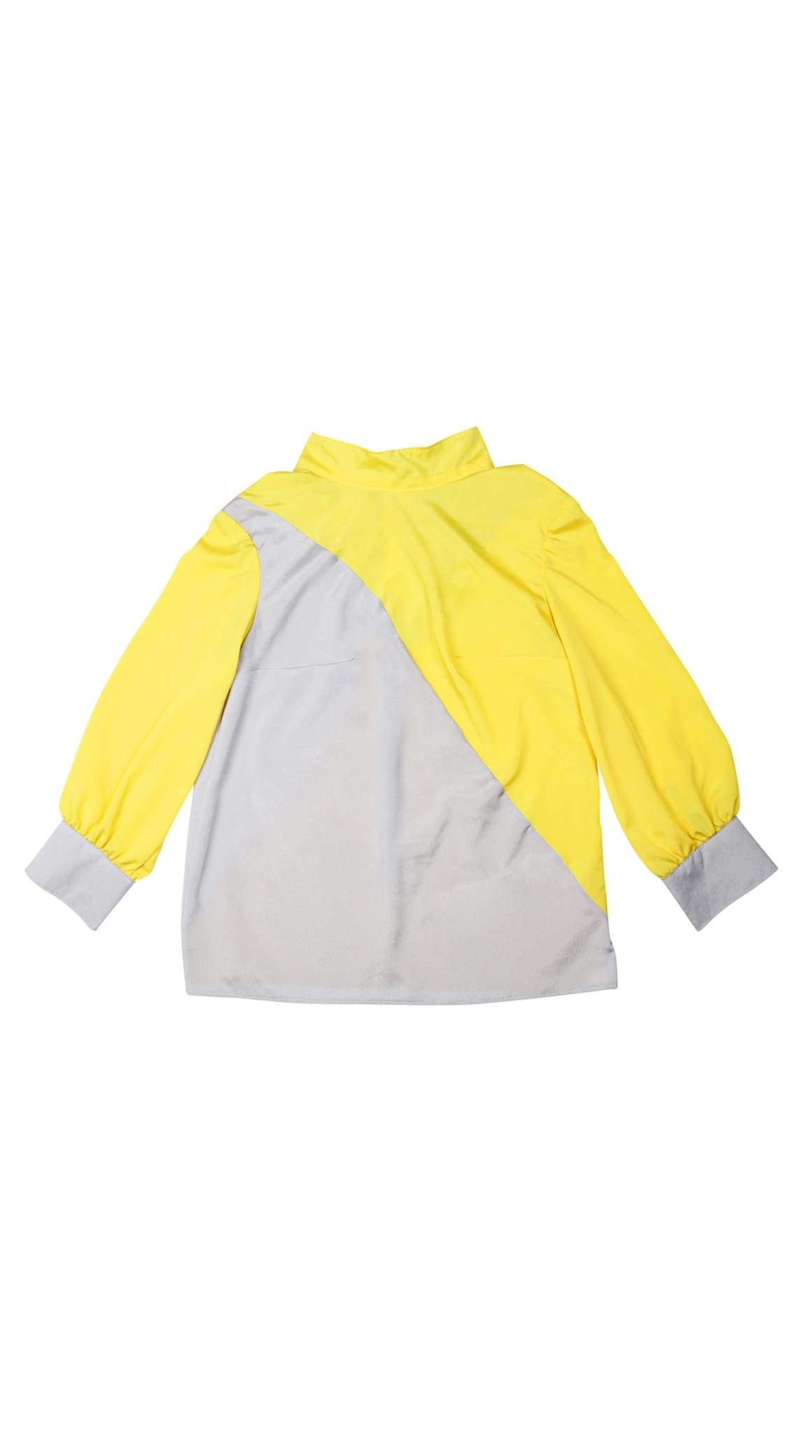 Yellow and Grey Starstruck Tie Blouse by Meghan Hughes | Nineteenth Amendment