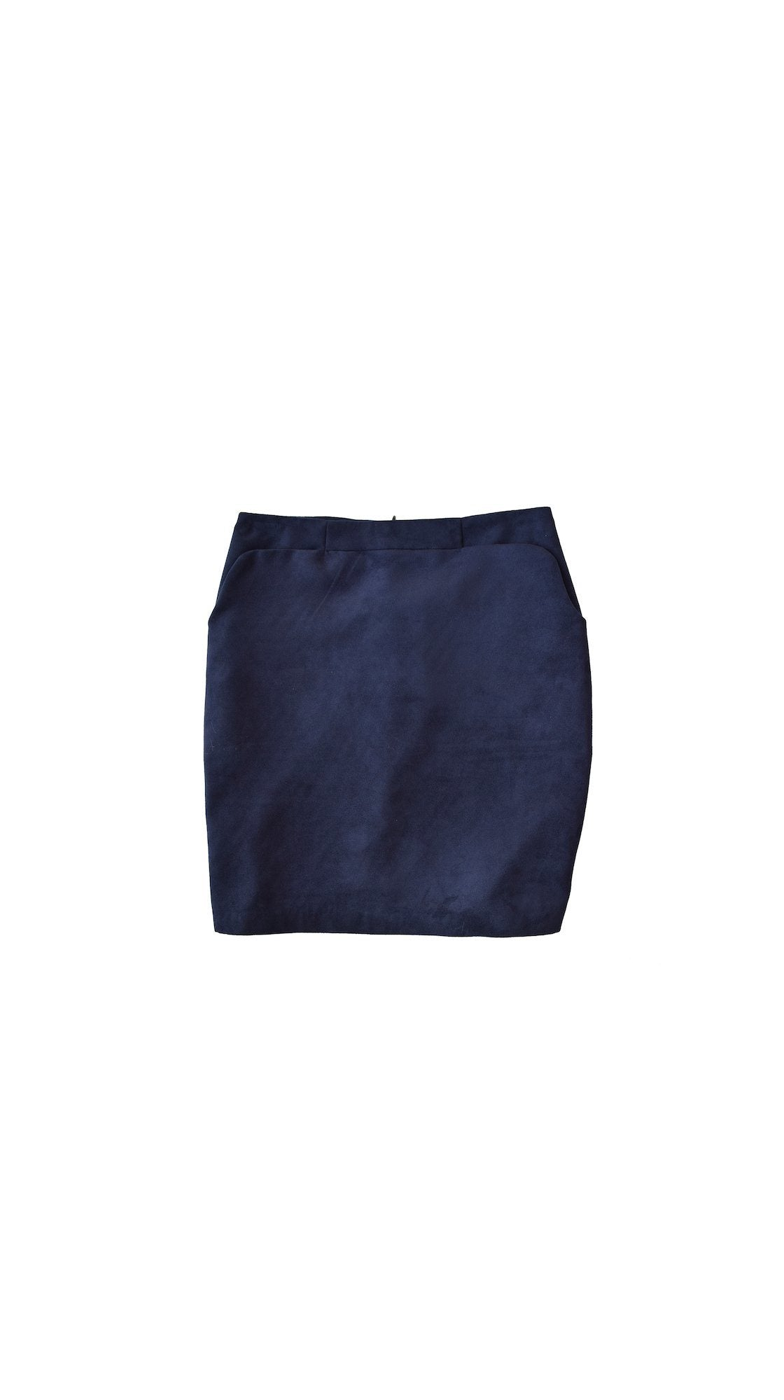 Blue Suede Shift Skirt by VARYFORM | Nineteenth Amendment