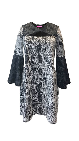 Black and white lace snakeskin The Sharon Dress by Bianca Zidik | Nineteenth Amendment