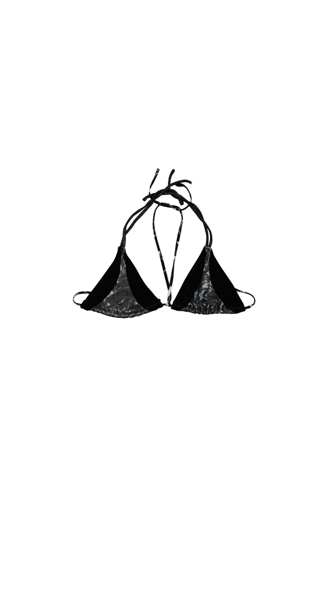 Black Velveteen String Bikini Top (Ink) by Rosina Mae Nineteenth Amendment