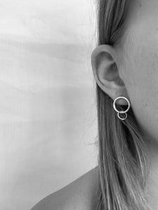 Mini Hanging Hoop Studs