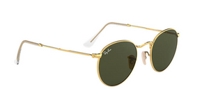 Ray-Ban Round Metal  Gold Green Classic Lens G-15
