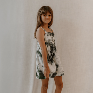 Moon Child Edie Dress Deep Green Tie Dye