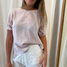 Amelina Short Sleeve Top in Lilac