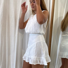 Anais Skirt in White Cotton Voile