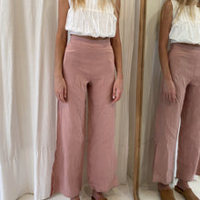 Hazel Pants in Dusky Rose Linen