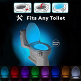 8 Colours Human Sensor Activated Led Toilet  Bowl Light