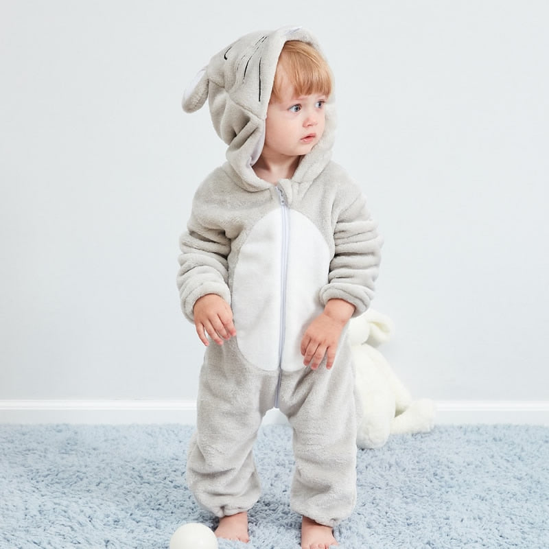Cute Mouse Full Sleeve Hooded Romper
