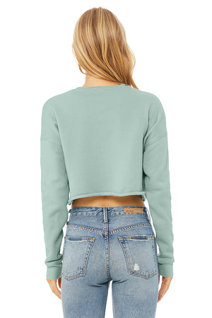 Women's Plush Cropped Crewneck Sweatshirt