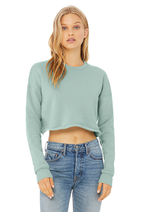 Women's Plush Cropped Crewneck Sweatshirt - Lovely Sportswear