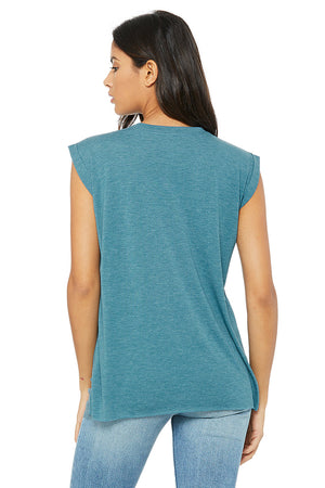 Women's Ultra Soft Flowy Muscle Tee - Lovely Sportswear