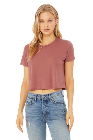 Women's Ultra Soft Flowy Cropped Tee - Lovely Sportswear