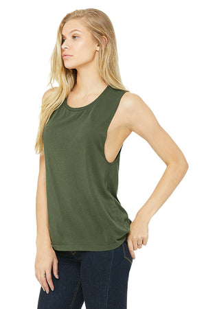 Women's Ultra Soft Flowy Scoop Muscle Tank - Lovely Sportswear