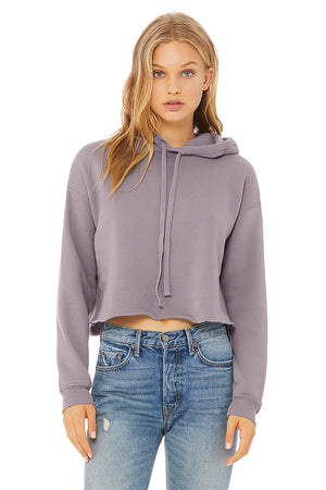 Women's Plush Cropped Hoodie - Lovely Sportswear