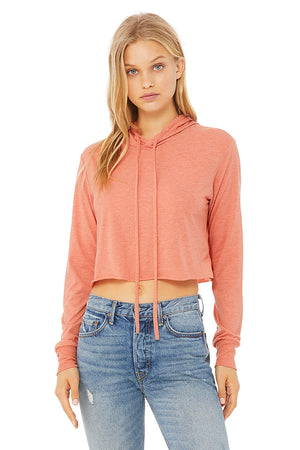Women's Ultra Soft Cropped Lightweight Hoodie - Lovely Sportswear