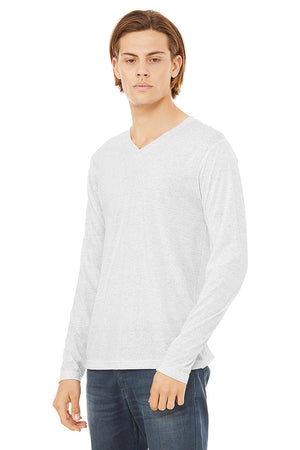 Men's Triblend V-Neck Long Sleeve - Lovely Sportswear
