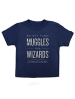 Books Turn Muggles Into Wizards Kids Tee