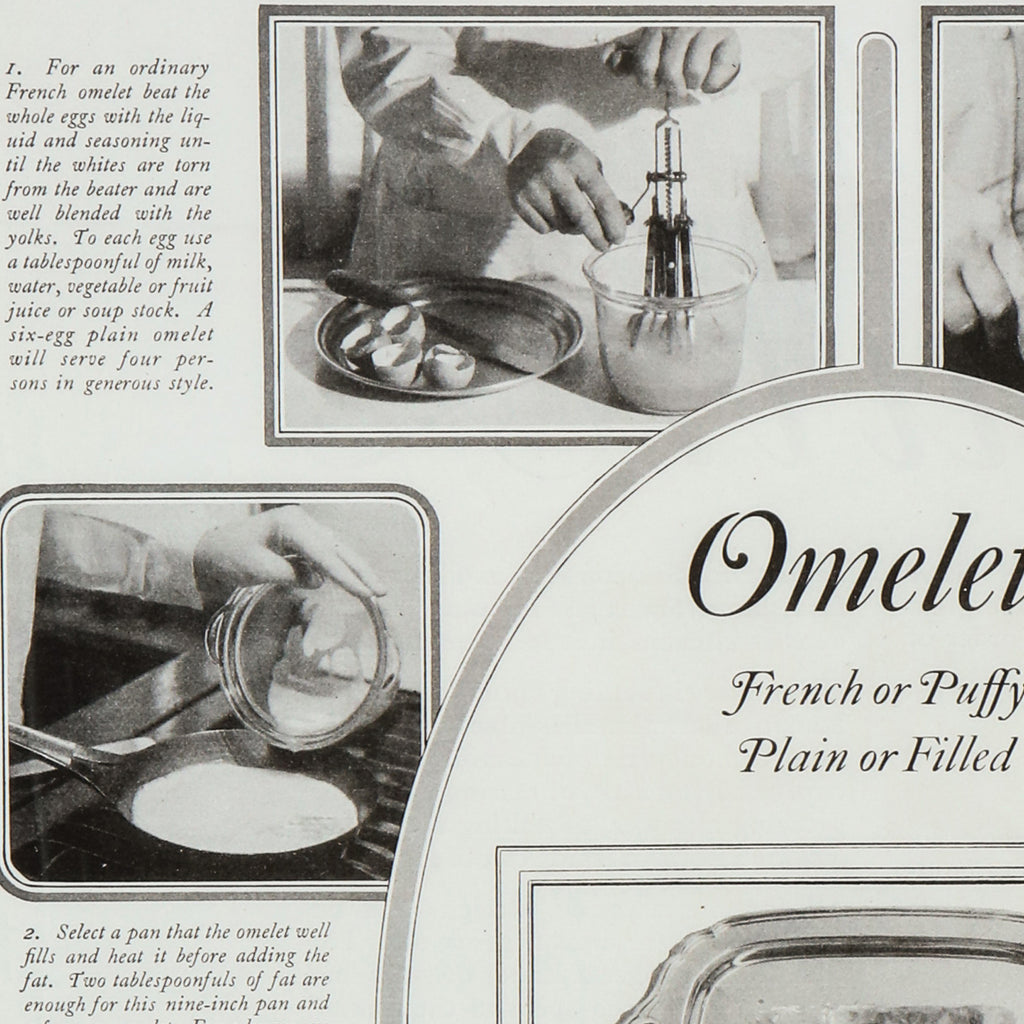 Omelets instructional print