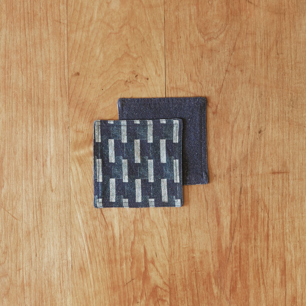 Isla coasters set of four in indigo