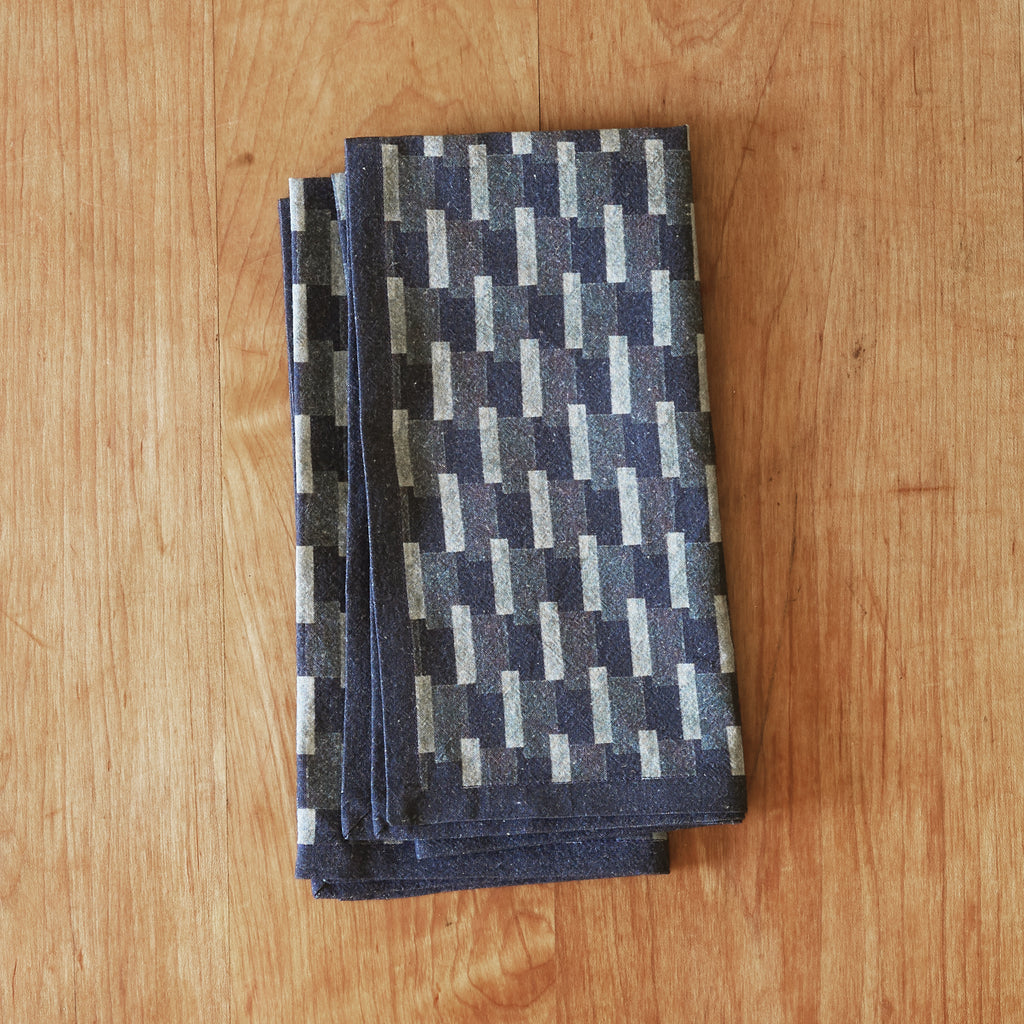 Isla napkin set of four in Indigo 100% cotton
