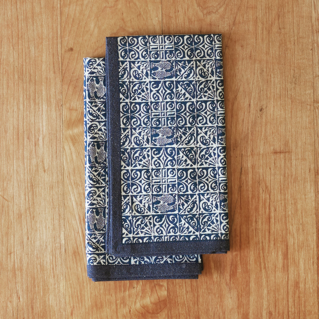 Oceane napkin set of four in indigo 100% cotton
