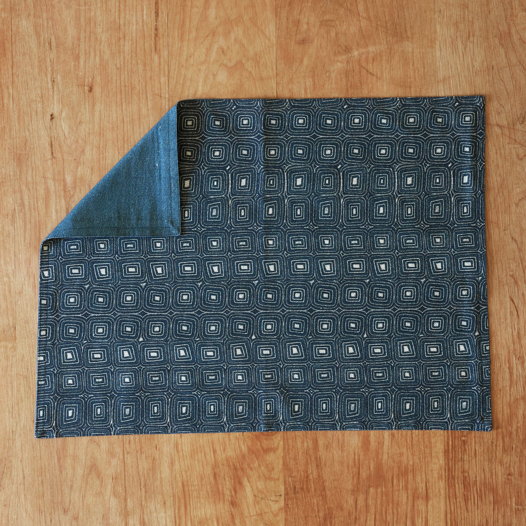 Kai Placemat in indigo set of four 100% cotton