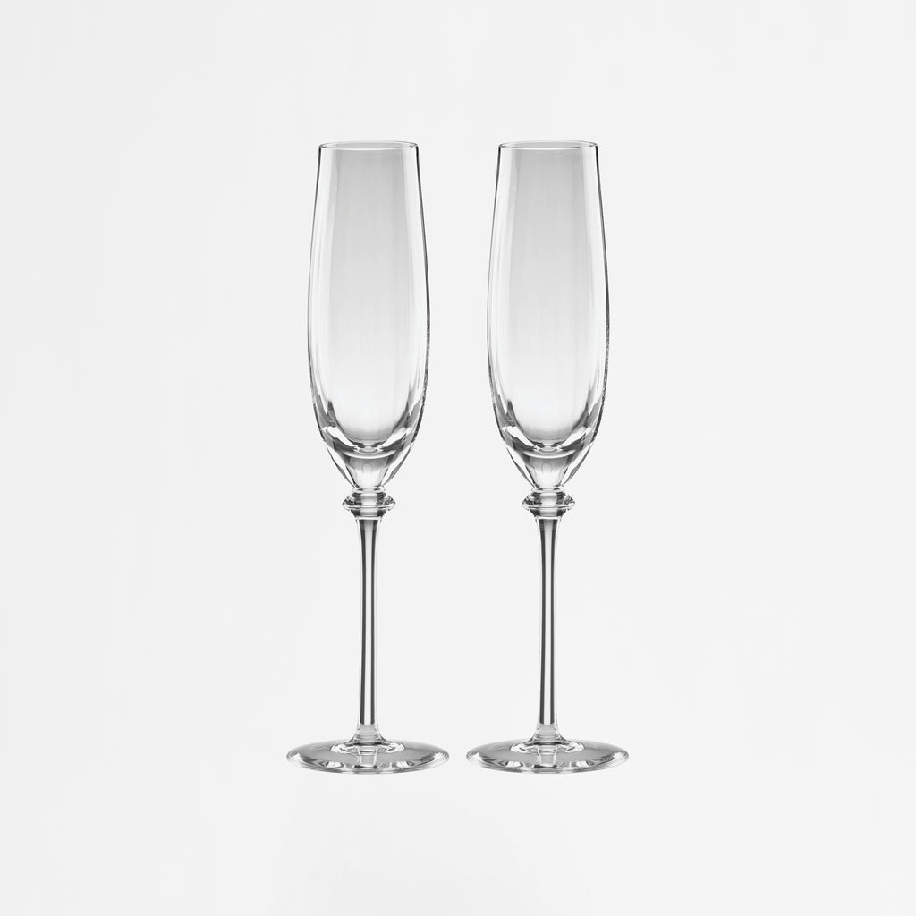 Austin Crystal Champagne Flutes