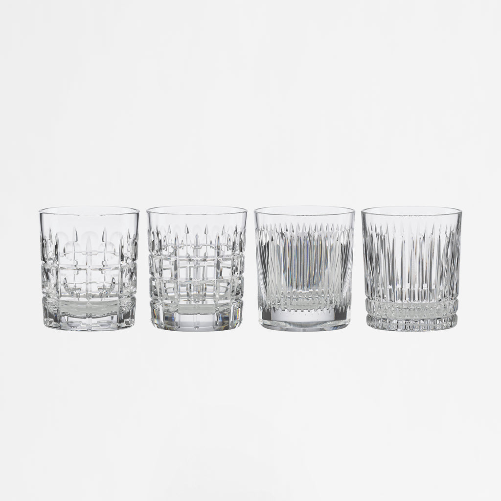 New Vintage Double Old Fashioned, Set of 4