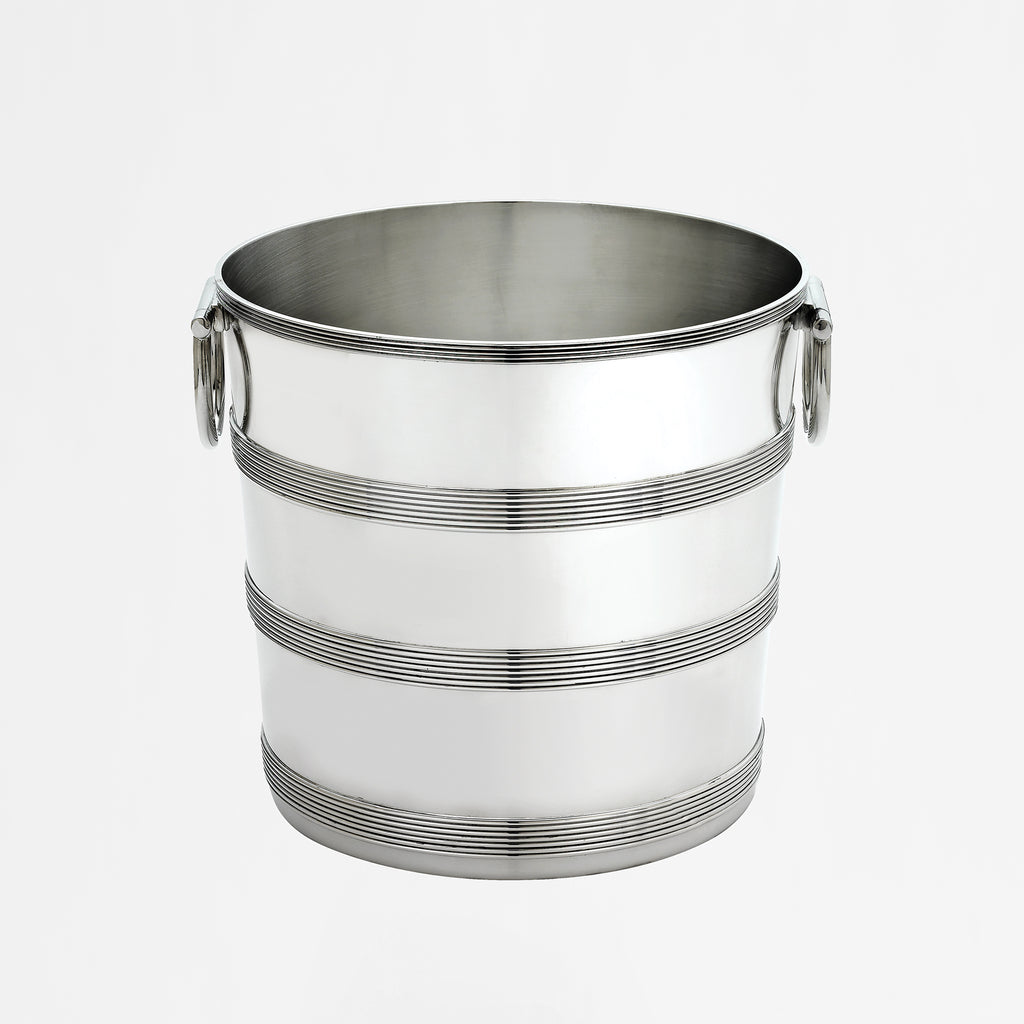 August Reeded Pewterplate Champagne Bucket