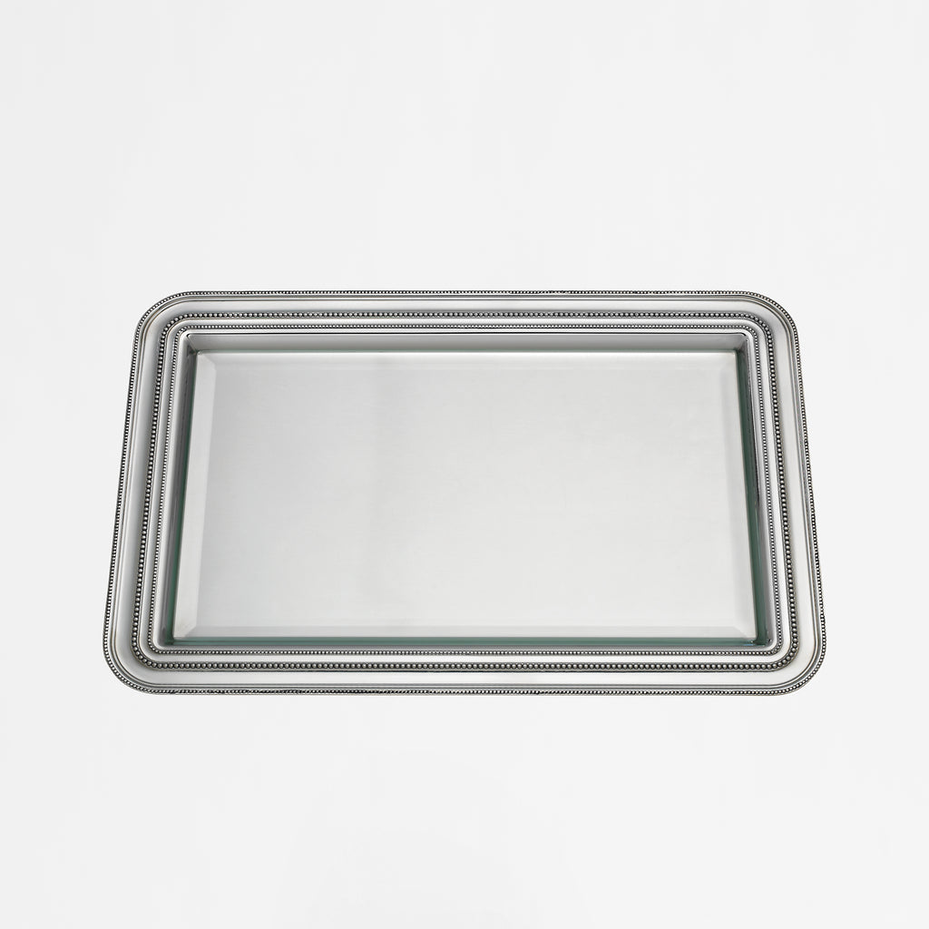 August Pewterplate & Glass Trays